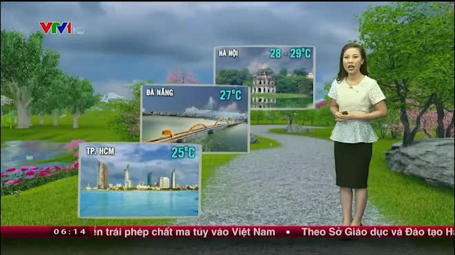 Dự báo thời tiết VTV 22/6: Bắc Bộ oi nóng, Nam Bộ mưa diện rộng