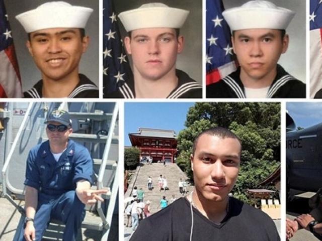 """7 thủy thủ """"tự sát"""" để cứu chiến hạm Mỹ đâm tàu hàng?"""