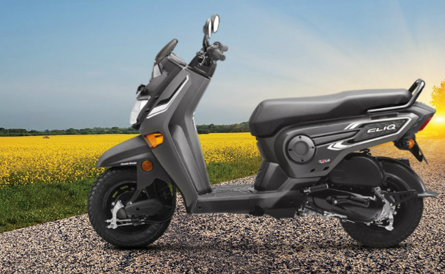 Hệ thống sức mạnh của Honda Cliq đã được thử nghiệm chính là loại động cơ làm mát bằng không khí, dung tích 109,19cc như được thấy trong các mẫu xe Honda Activa và Honda Navi. Ảnh phiên bản màu xám.