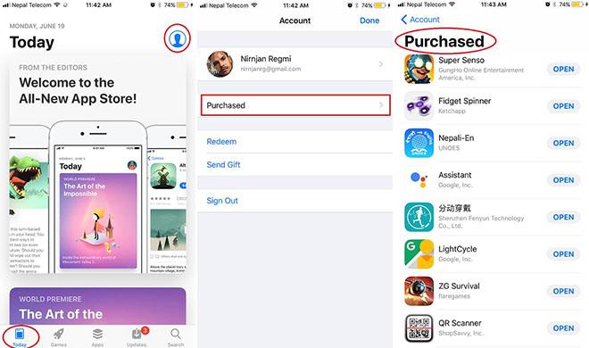 Cách kiểm tra các ứng dụng đã mua từ App Store trên iOS 11 - 2