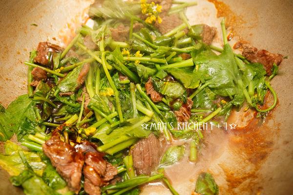 Thịt bò xào ngồng cải mềm ngon, đậm đà - 5