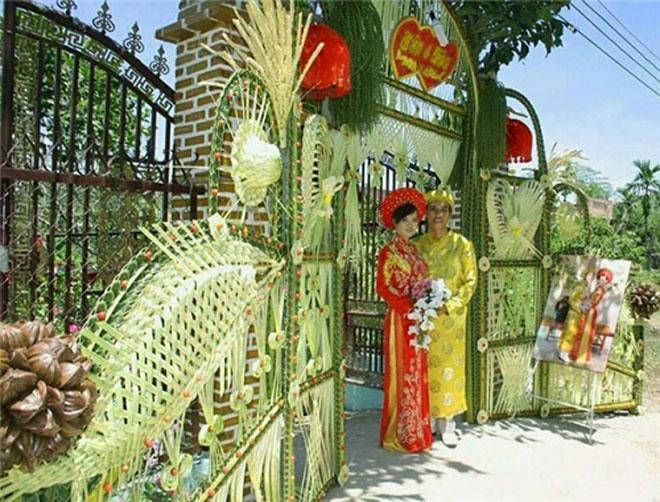 """Mê mẩn những cổng lá dừa """"chất lừ"""" của đám cưới Việt - 10"""