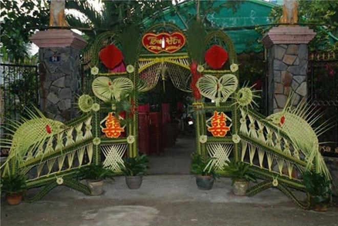 """Mê mẩn những cổng lá dừa """"chất lừ"""" của đám cưới Việt - 4"""
