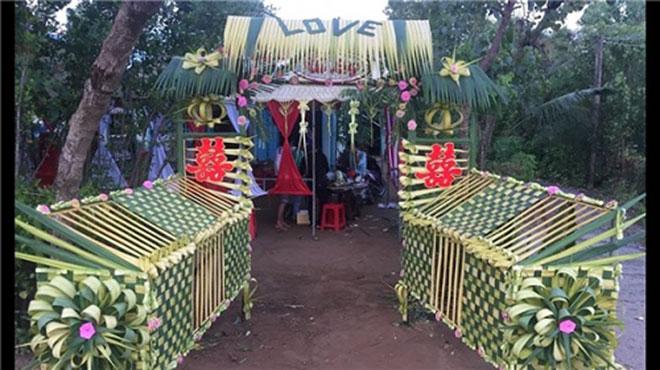 """Mê mẩn những cổng lá dừa """"chất lừ"""" của đám cưới Việt - 6"""