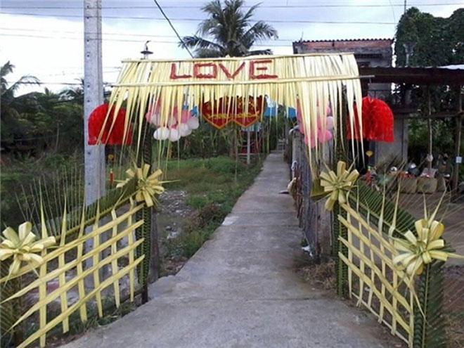 """Mê mẩn những cổng lá dừa """"chất lừ"""" của đám cưới Việt - 7"""