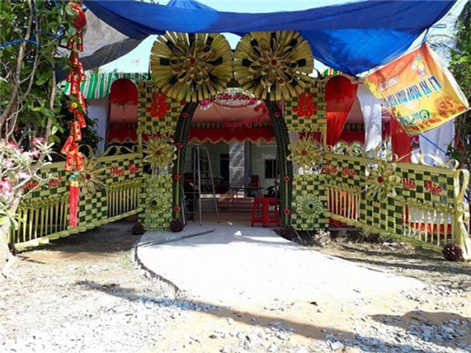 """Mê mẩn những cổng lá dừa """"chất lừ"""" của đám cưới Việt - 9"""