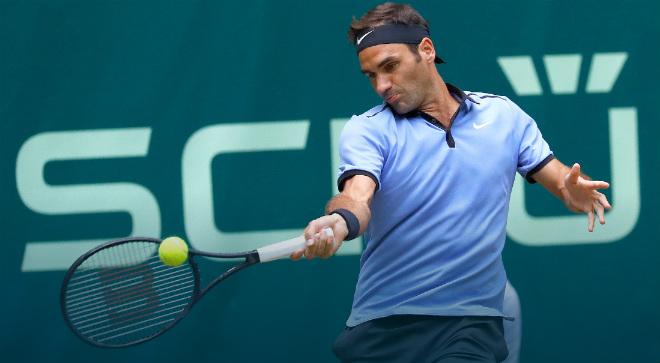 Federer - Mayer: 2 set chóng vánh như 1 (TK Halle Open)