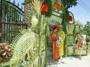 """Mê mẩn những cổng lá dừa  """" chất lừ """"  của đám cưới Việt"""
