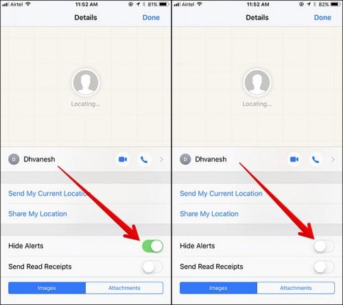 Thủ thuật ẩn thông báo Messages thú vị trên iOS 11 - 3