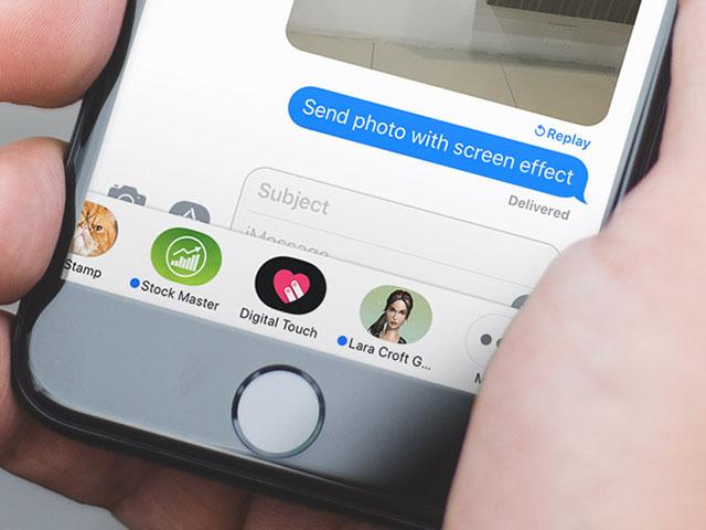 Tùy chỉnh giao diện iMessage cho iPhone, iPad chạy iOS 11