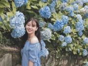 """"""" Đứng ngồi không yên """"  trước vườn hoa cẩm tú cầu đẹp mê ly ở Cao Bằng"""