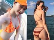 """Bạn gái Sơn Tùng  """" lu mờ """"  trước ảnh bikini quá hot của chị gái"""