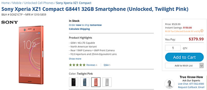 NÓNG: Sony Xperia XZ1 Compact giảm sốc hơn 4,5 triệu đồng - 3