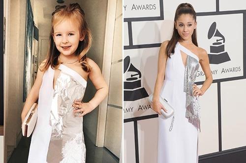 Bé gái 4 tuổi gây sốt vì chế đồ và mặc giống hệt sao - 9