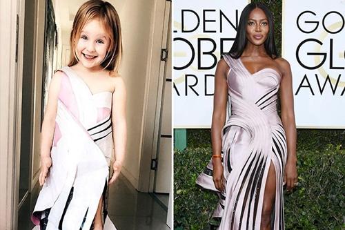 Bé gái 4 tuổi gây sốt vì chế đồ và mặc giống hệt sao - 8