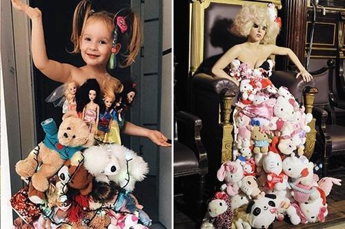 Bé gái 4 tuổi gây sốt vì chế đồ và mặc giống hệt sao - 7