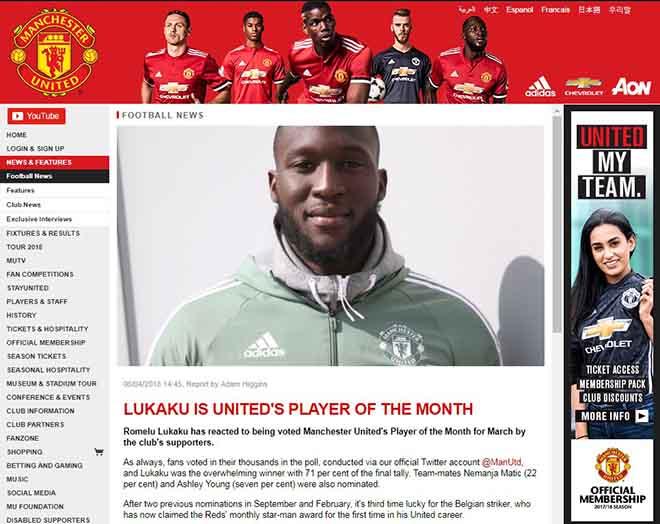 """Lukaku xuất sắc nhất MU: Ghi nhận muộn màng, bất công """"Voi rừng đệ nhị"""" - 1"""