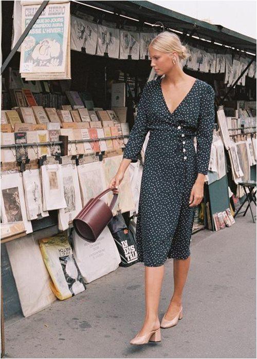 Váy quấn cổ điển: Lựa chọn nữ tính tuyệt vời cho hè - 4
