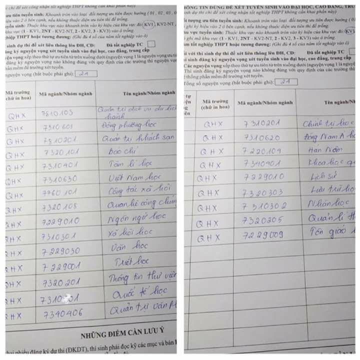 Thí sinh gây tranh cãi khi đăng ký… 24 nguyện vọng - 1