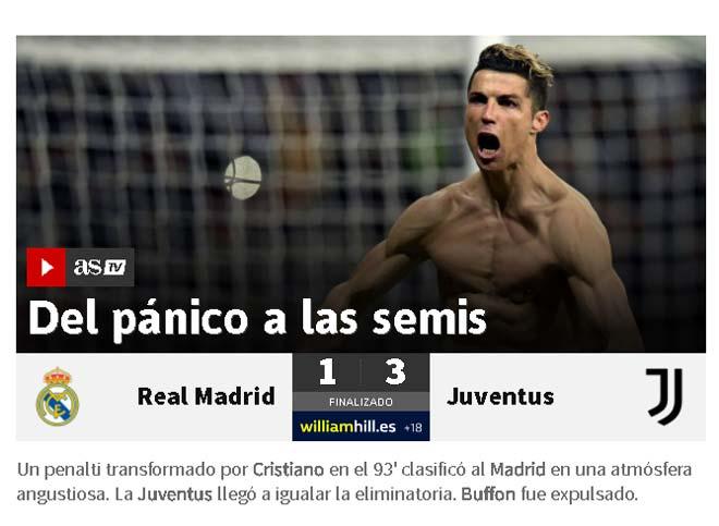 Real thoát hiểm Juventus ngược dòng: Báo chí ca ngợi Ronaldo bản lĩnh
