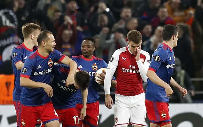 """CSKA Moscow - Arsenal: """"Tí hon"""" hóa Roma, bàn thắng lớn phút 75"""
