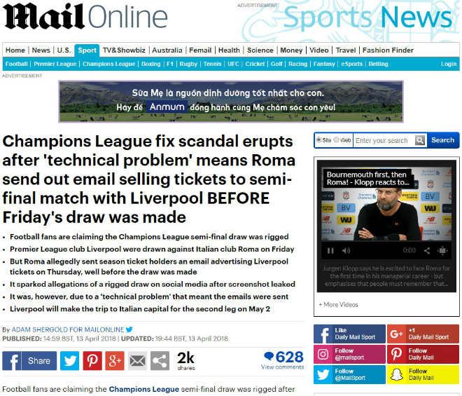 Động trời Cúp C1: Báo chí Anh tố UEFA nhúng tay, xếp đặt Real - Bayern - 1