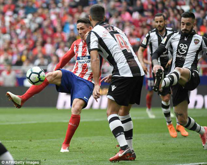 """Atletico Madrid - Levante: """"Mưa bàn thắng"""" tri ân huyền thoại - 1"""