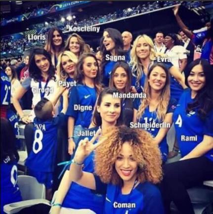 Vợ cầu thủ Pháp Sagna giản dị vẫn tỏa sáng trên khán đài - 1
