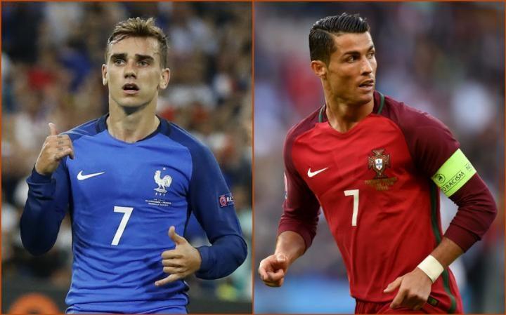 Quả bóng vàng Euro: Griezmann sáng cửa hơn Ronaldo