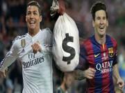 Bóng đá - Top SAO giàu nhất thế giới: Messi lại thua Ronaldo