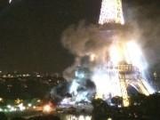 Thế giới - Tháp Eiffel bốc khói dữ dội sau vụ khủng bố ở Pháp