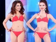 """Thời trang - """"Cân đo"""" top 15 Hoa hậu Bản sắc Việt Toàn cầu ở phần thi bikini"""