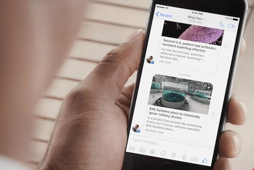 Facebook Messenger đã chính thức hỗ trợ Instant Articles