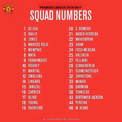 MU công bố số áo mùa 2016/17: Số 6 chờ Pogba