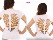 Thời trang - Clip: Tự làm áo khoét hình trái tim sành điệu