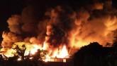 Cháy lớn tại nhà máy sản xuất nến Hải Phòng