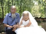 Bạn trẻ - Cuộc sống - Cặp vợ chồng TQ 103 tuổi kỷ niệm đám cưới kim cương