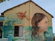 Du lịch - Du khách nườm nượp đổ về 'làng bích họa' kỳ lạ ven biển Tam Kỳ