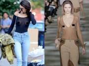 """Thời trang - Kendall Jenner thích mặc """"thả rông"""" để sexy hơn"""