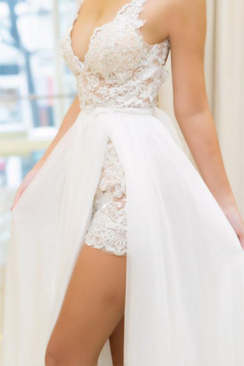 Hé lộ váy cưới gợi cảm của Hà Anh trước thềm hôn lễ - 5