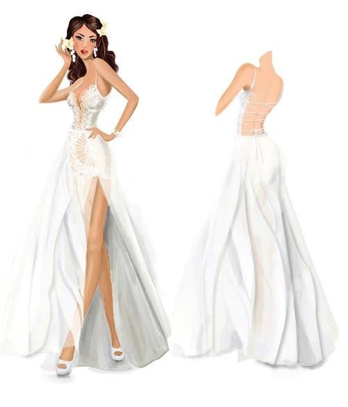 Hé lộ váy cưới gợi cảm của Hà Anh trước thềm hôn lễ - 2