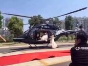 Bạn trẻ - Cuộc sống - Cặp đôi TQ dùng trực thăng rước dâu gây bức xúc