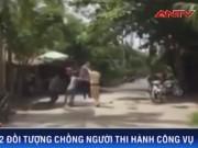 Video An ninh - Clip: 2 côn đồ đạp đổ môtô tuần tra, vây đánh CSGT