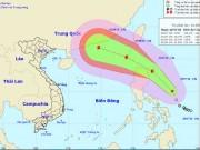 Tin tức trong ngày - Áp thấp nhiệt đới sức gió cấp 15 hướng vào Biển Đông