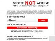 Công nghệ thông tin - Trang web của nhóm hacker 1937CN không thể truy cập