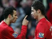 """Bóng đá - Tiết lộ: Giggs suýt """"tẩn"""" Ronaldo khi còn ở MU"""