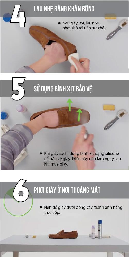 6 bước làm sạch giày da lộn chị em nên biết - 2