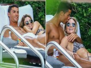 Bóng đá - Nghỉ hè ở Mỹ, Ronaldo lộ diện bạn gái mới gây sốt