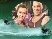 Phim - Vin Diesel cưỡi mô-tô lướt sóng truy đuổi Chân Tử Đan