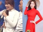 """Đời sống Showbiz - Hari Won """"thua đứt"""" loạt sao Hàn khi diện áo dài Việt"""